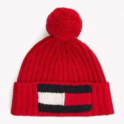 Bonnet rouge Tommy hilfiger
