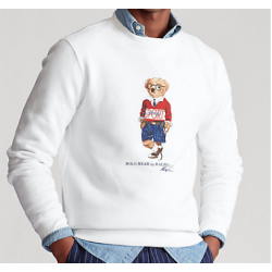 SWEAT BLANC BEAR RALPH...