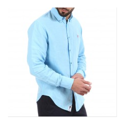 CHEMISE LIN ML TURQUOISE...